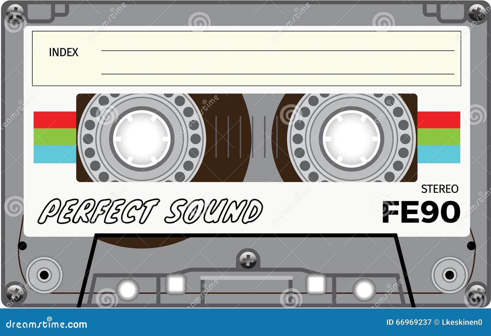Cassete de banda magnética do vintage