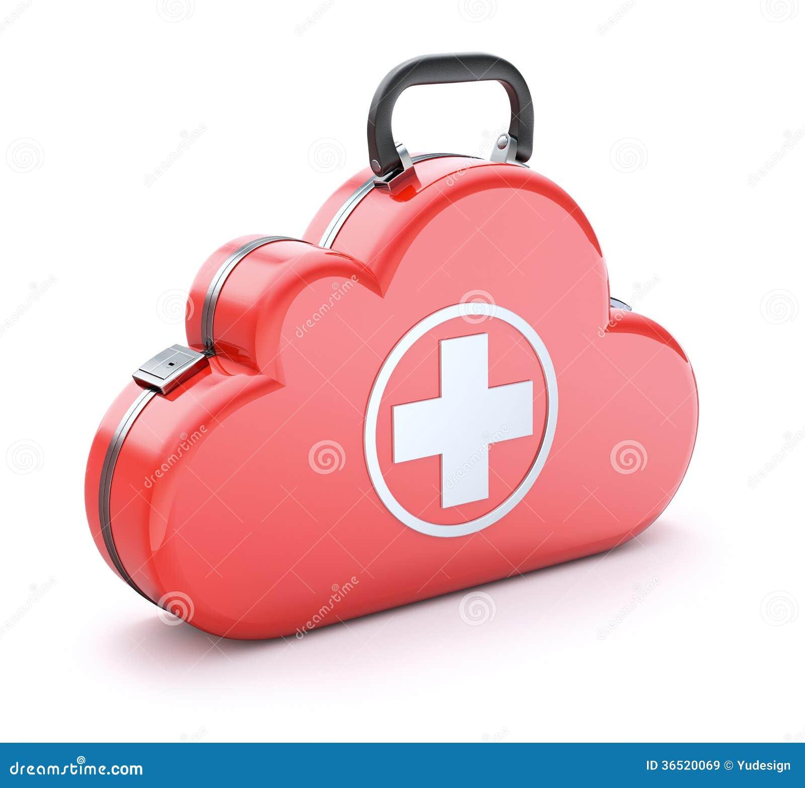 Cassetta di pronto soccorso nella nuvola