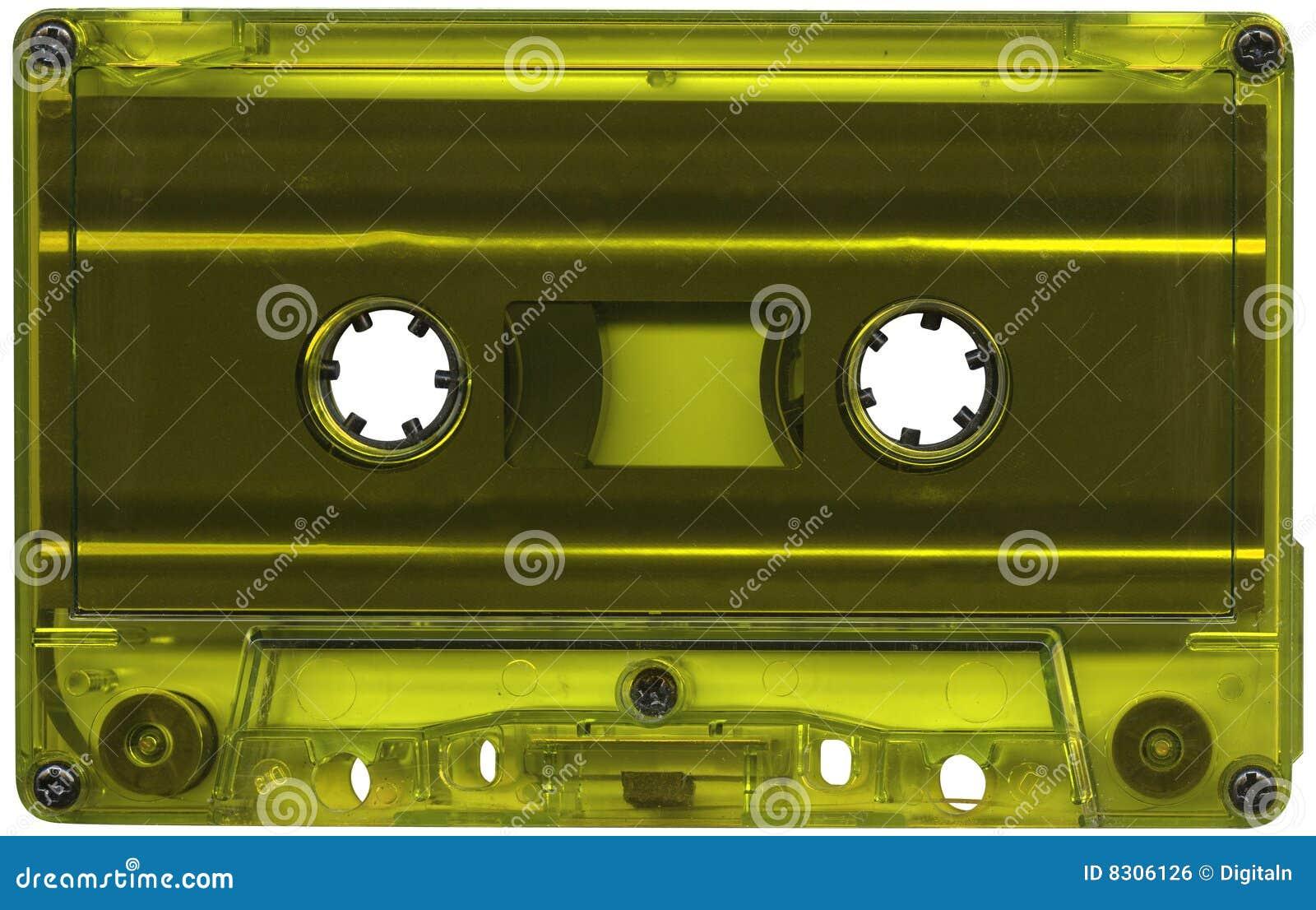 Cassette coloured lime tape