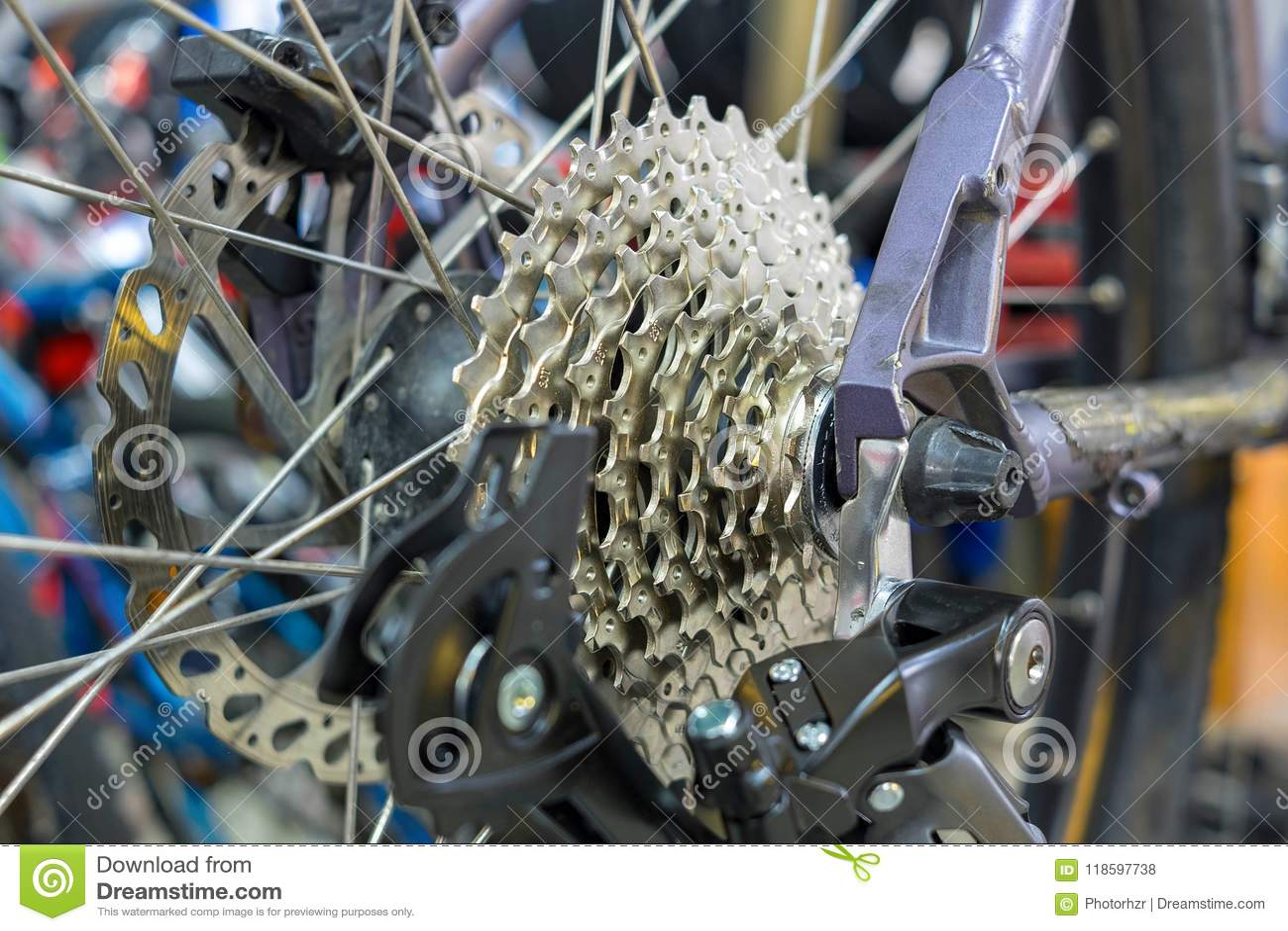 Cassette d arrière de vélo de montagne
