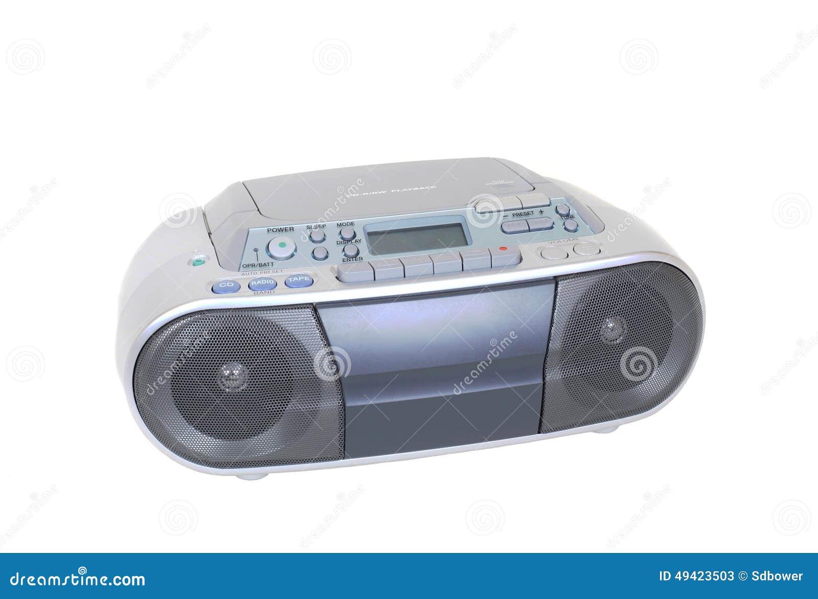 cassette lecteur de cd moderne et radio d 39 isolement sur. Black Bedroom Furniture Sets. Home Design Ideas