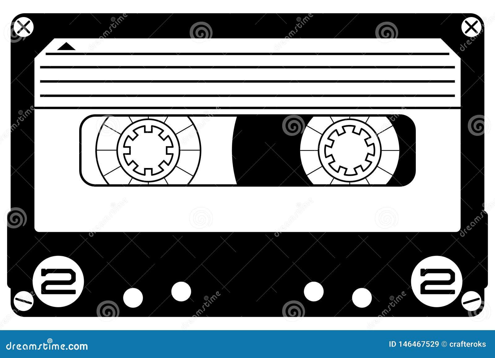 Cassette Mixtape Hand Drawn Crafteroks Svg Free, Free Svg