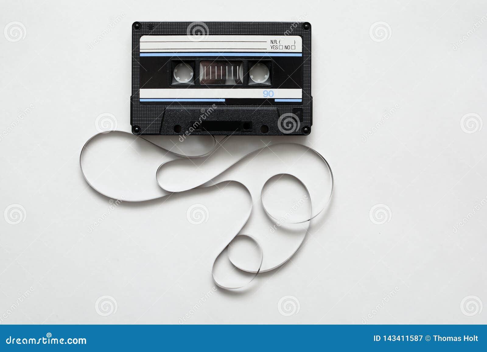 Cassette tape, retro audio cassette