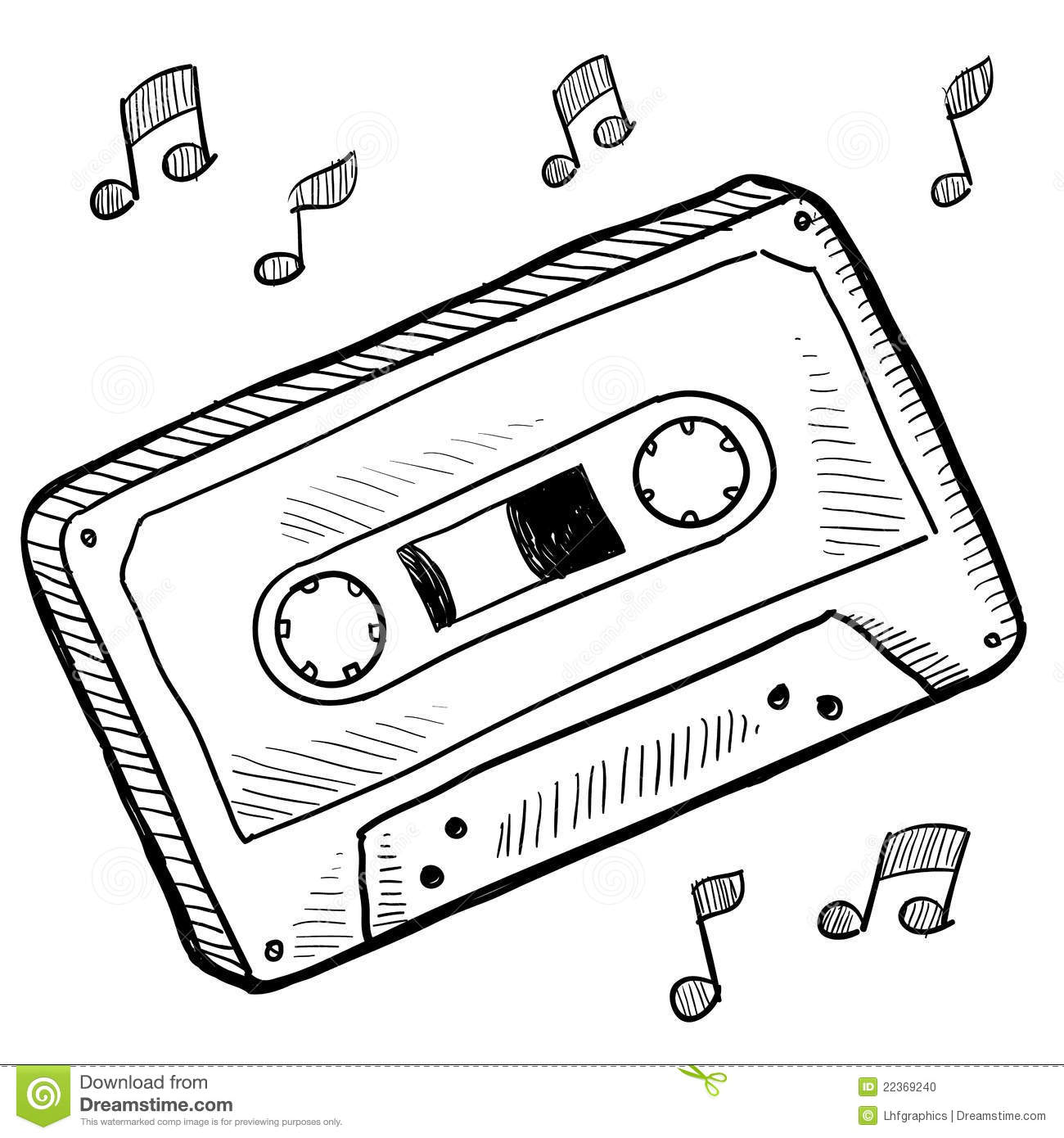 Cassette Tape Sketch Stock Photo Image 22369240