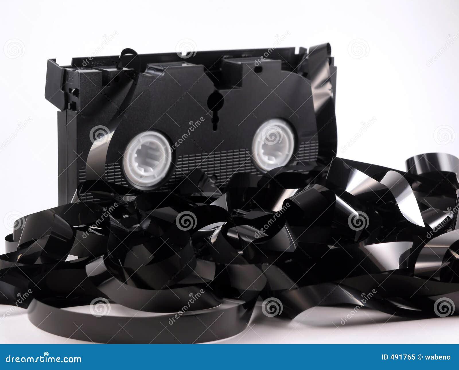 Cassette vidéo déroulée