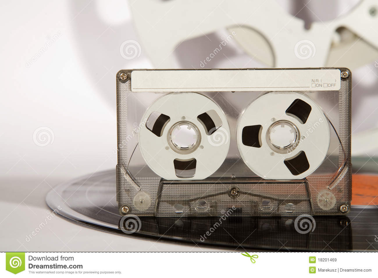 Cassette Vinyl Record And Analog Audio Tape Royalty Free