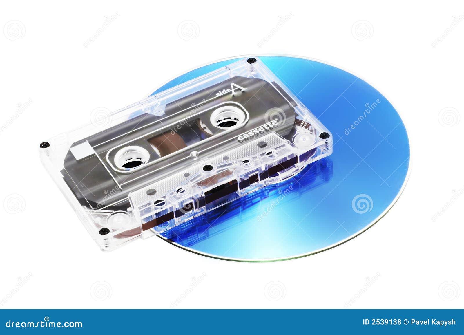 Cassette y CD de cinta