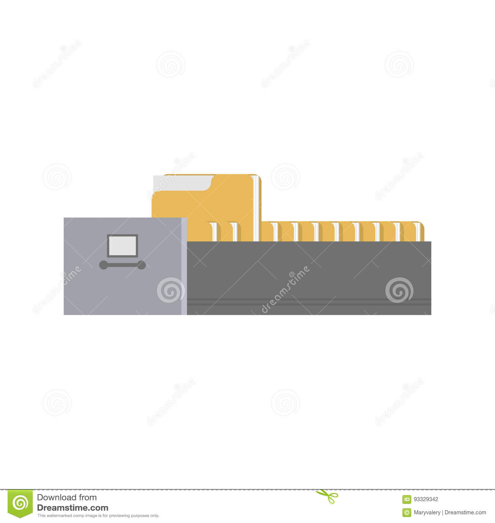 Contenitori Per Documenti Ufficio.Cassetto Del Gabinetto Di Archivio Contenitore Di Ferro Di Indice Di