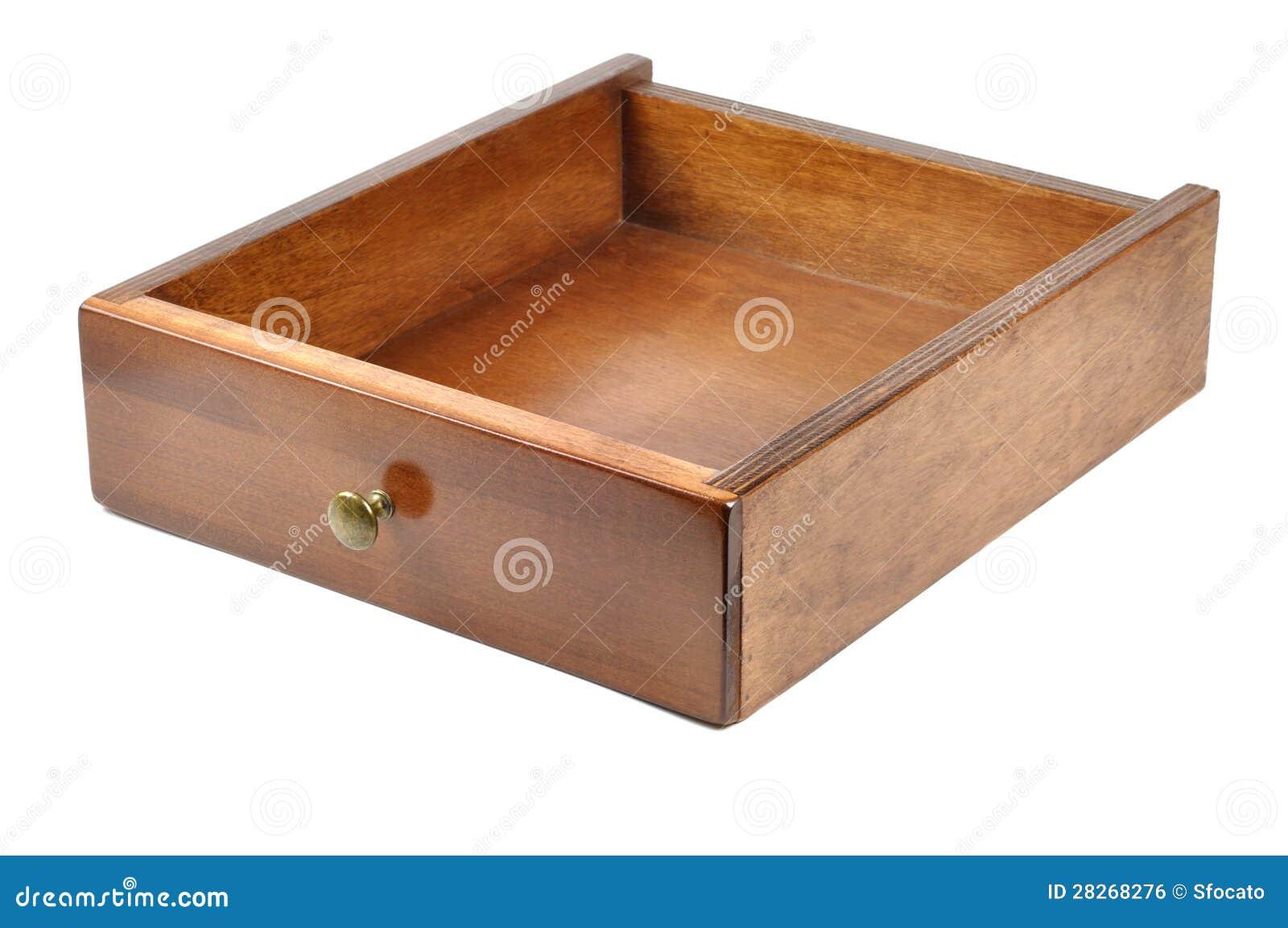 Cassetto di legno immagine stock libera da diritti for Comamortisseur de tiroir