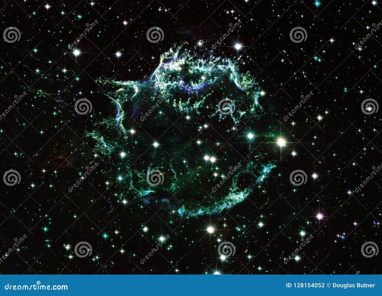Cassiopeia στοιχεία μιας ενισχυμένα κόσμου εικόνας από τη NASA/ESO | Fractal ταπετσ