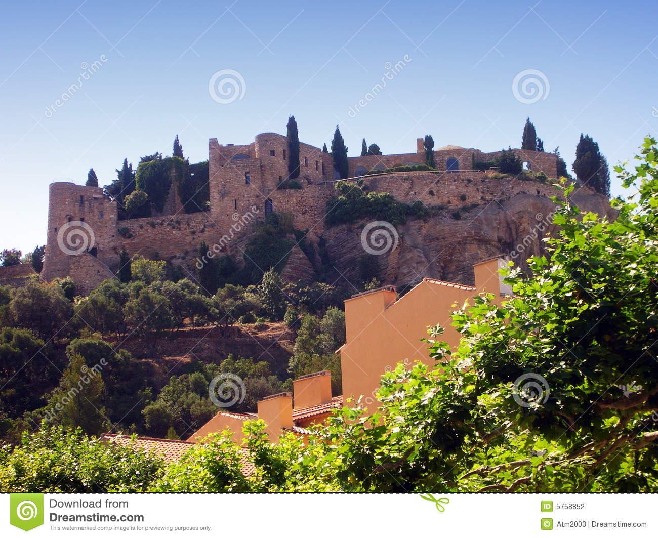 Cassis Castle - France Stock Photography - Image: 5758852