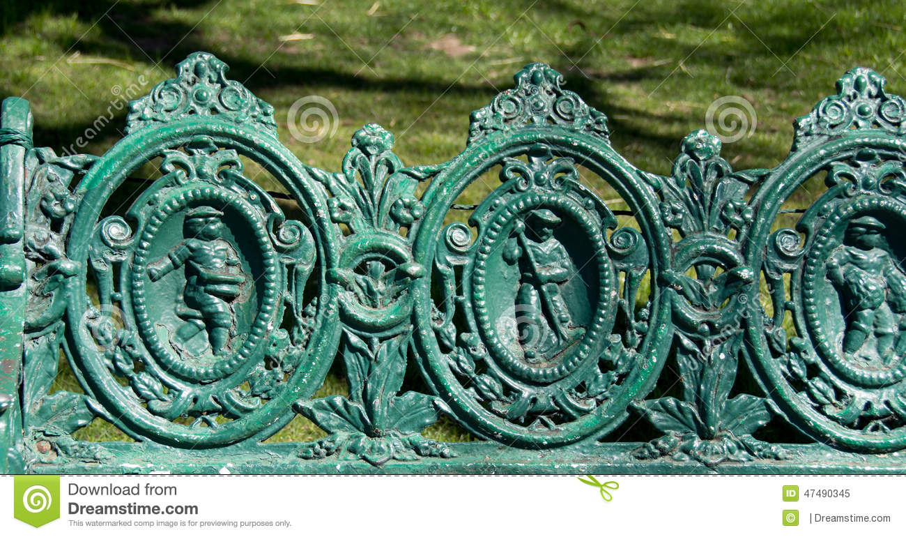 antique cast iron bench Cast iron bench stock image. Image of iron, park, monkey   47490345 antique cast iron bench