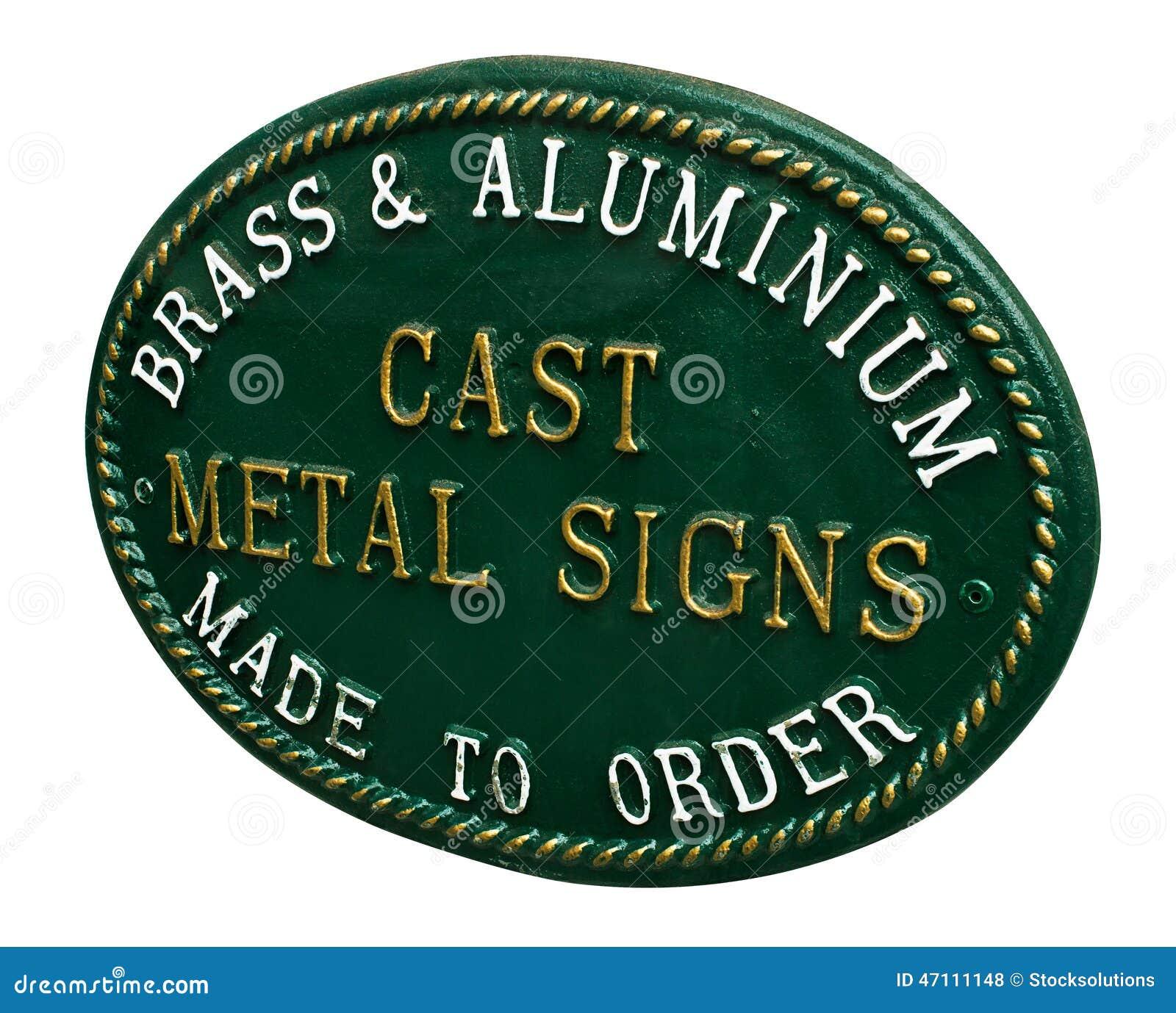 Cast Iron Sign Stock Photo Image 47111148