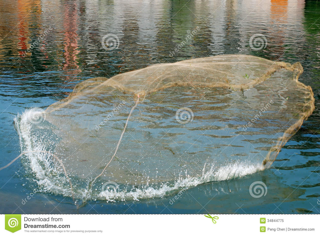 Cast net fishing royalty free stock photo image 34844775 for Fishing times free