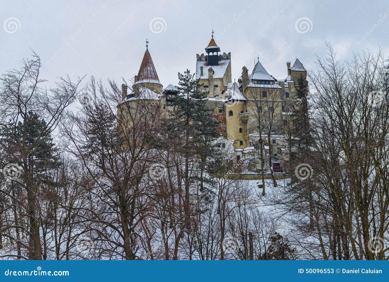 Castel Dracula podczas zimy