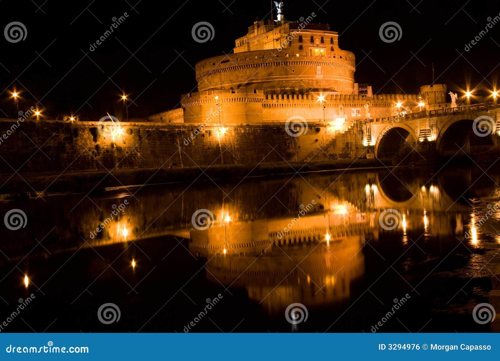 Castel Sant Angelo at night