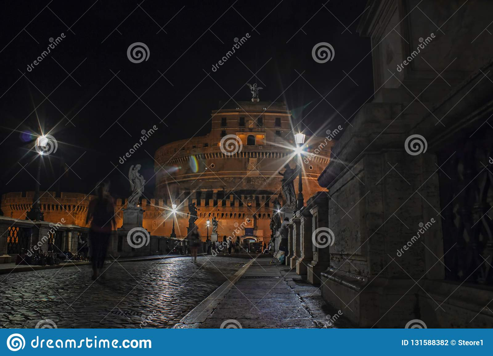 Castel Sant`Angelo Night scenic view
