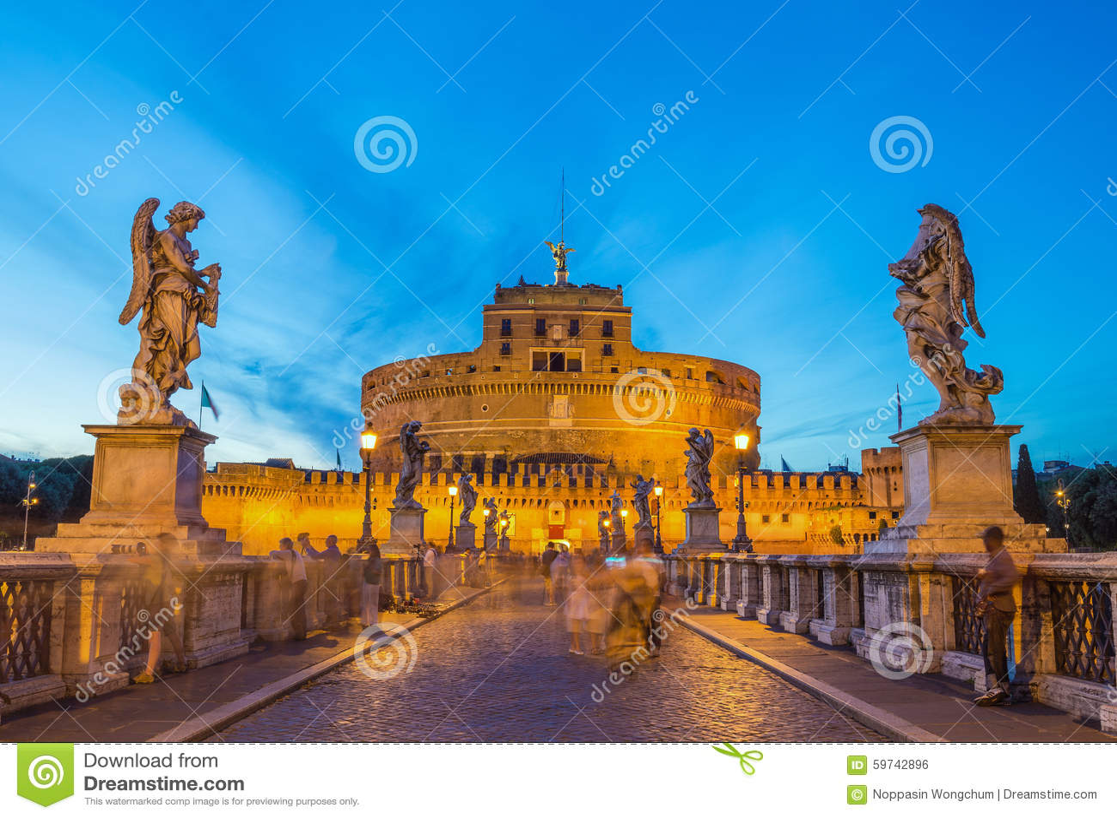 Castel Sant   Angelo - Rome - Italië