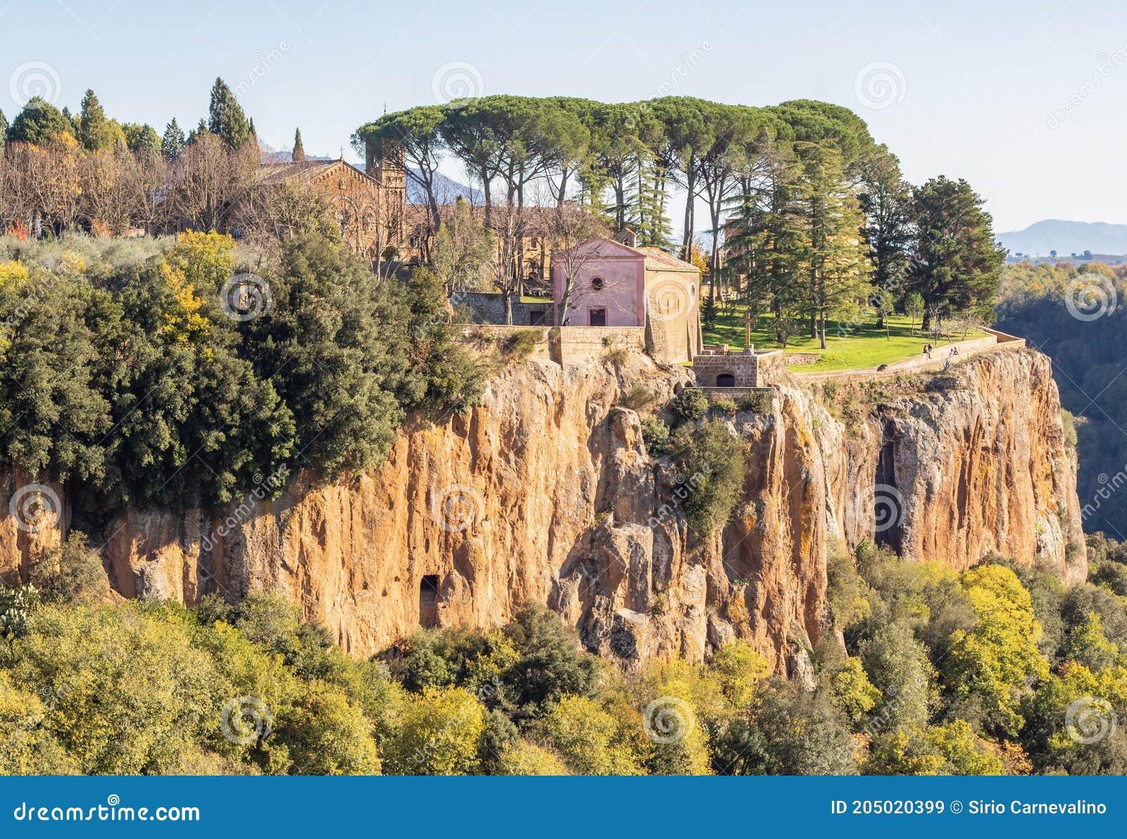 Castel Sant Elia Italia.The Wonderful Medieval Town Of Castel Sant Elia Italy Stock Image Image Of Civita Calcata 205020399