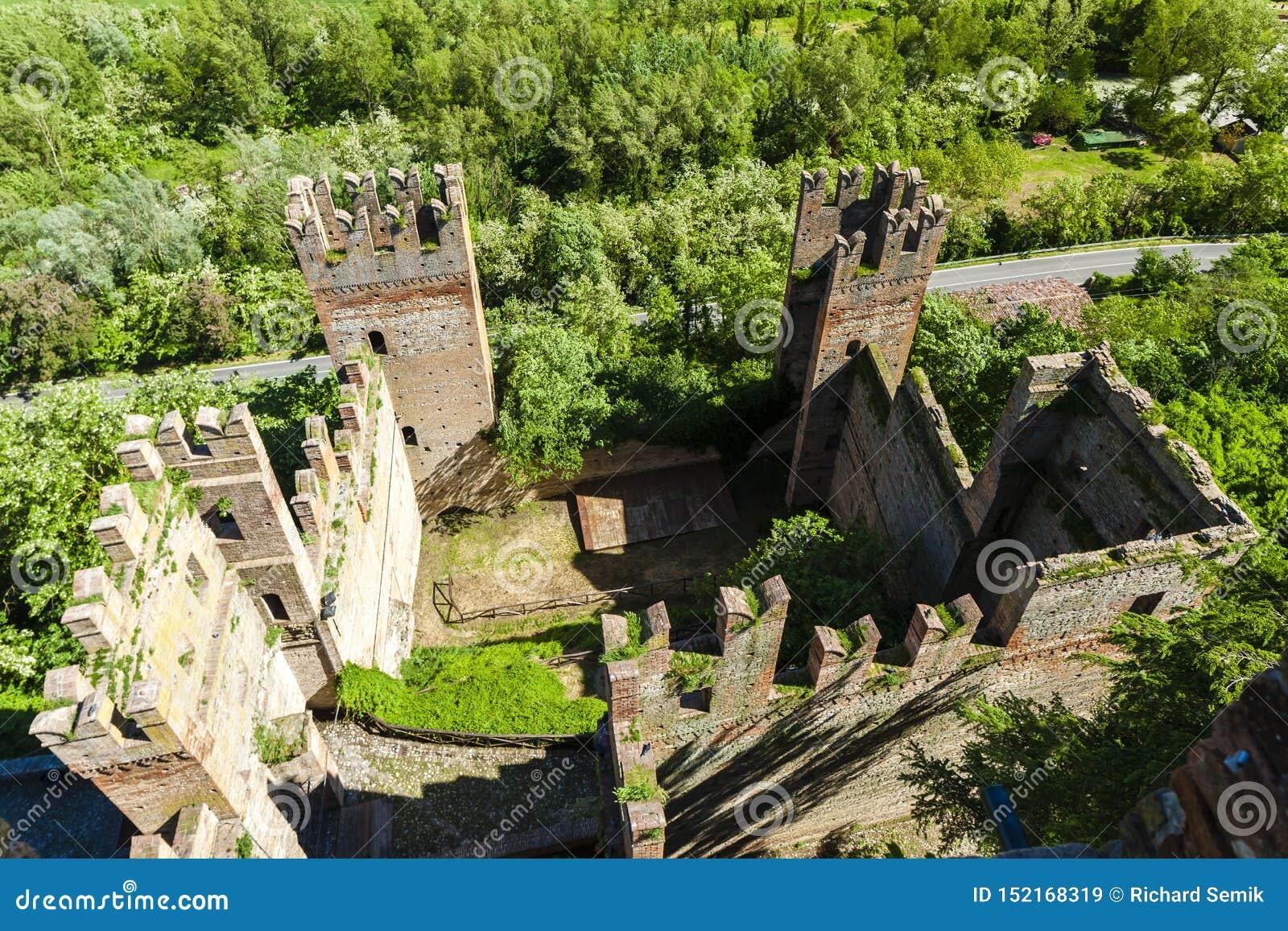 Castell Arquato in north Italy
