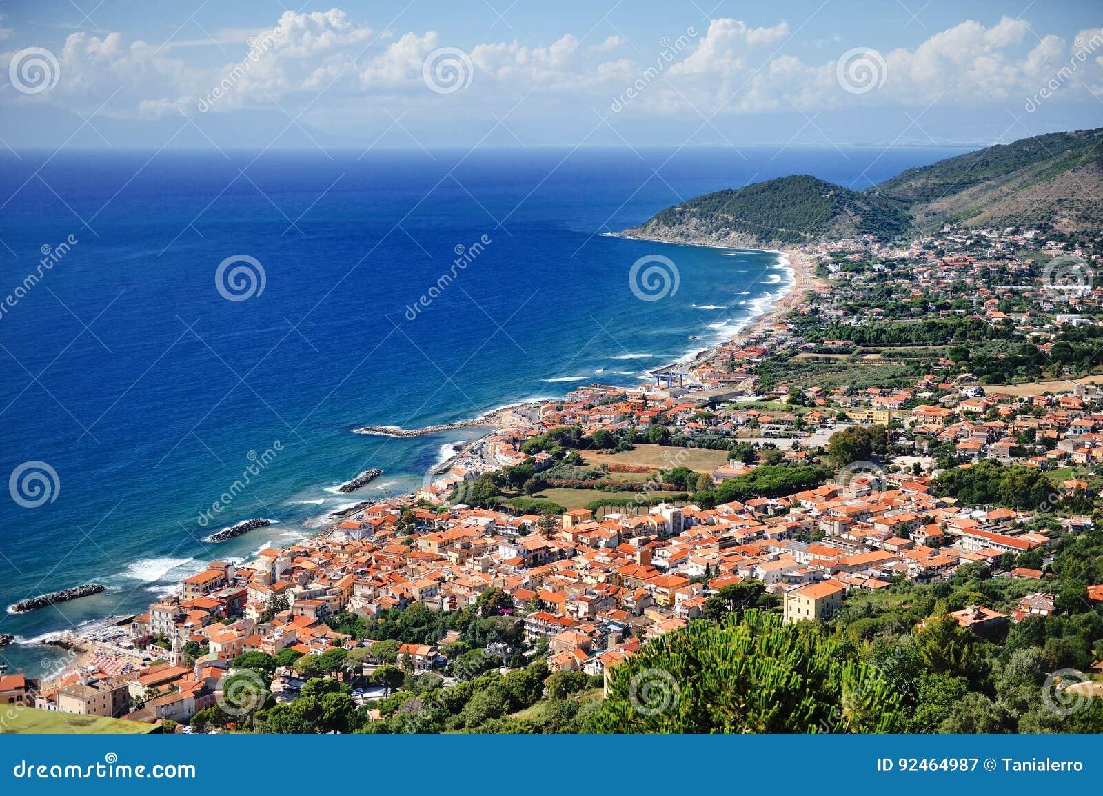 Castellabate scenic panoramic view, Cilento, Campania, Italy
