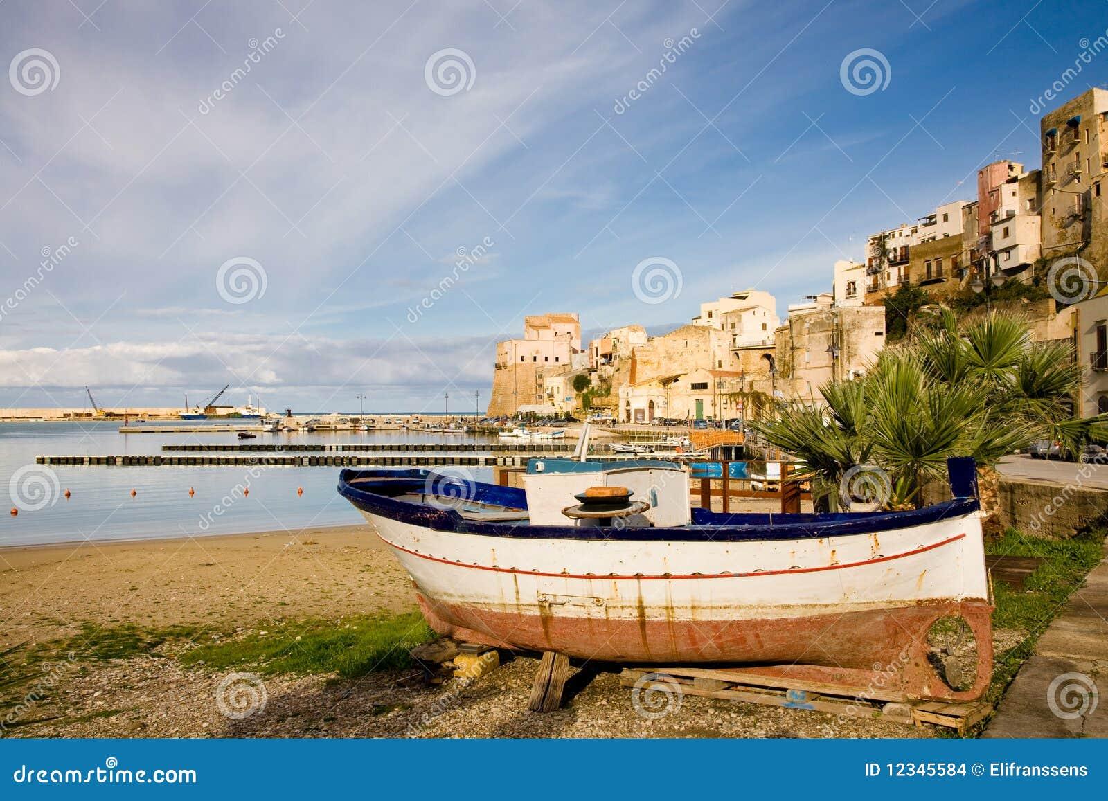 Castellammare del golfo sicily italy stock photo image 48782909 - Del Italia Mediterraneo