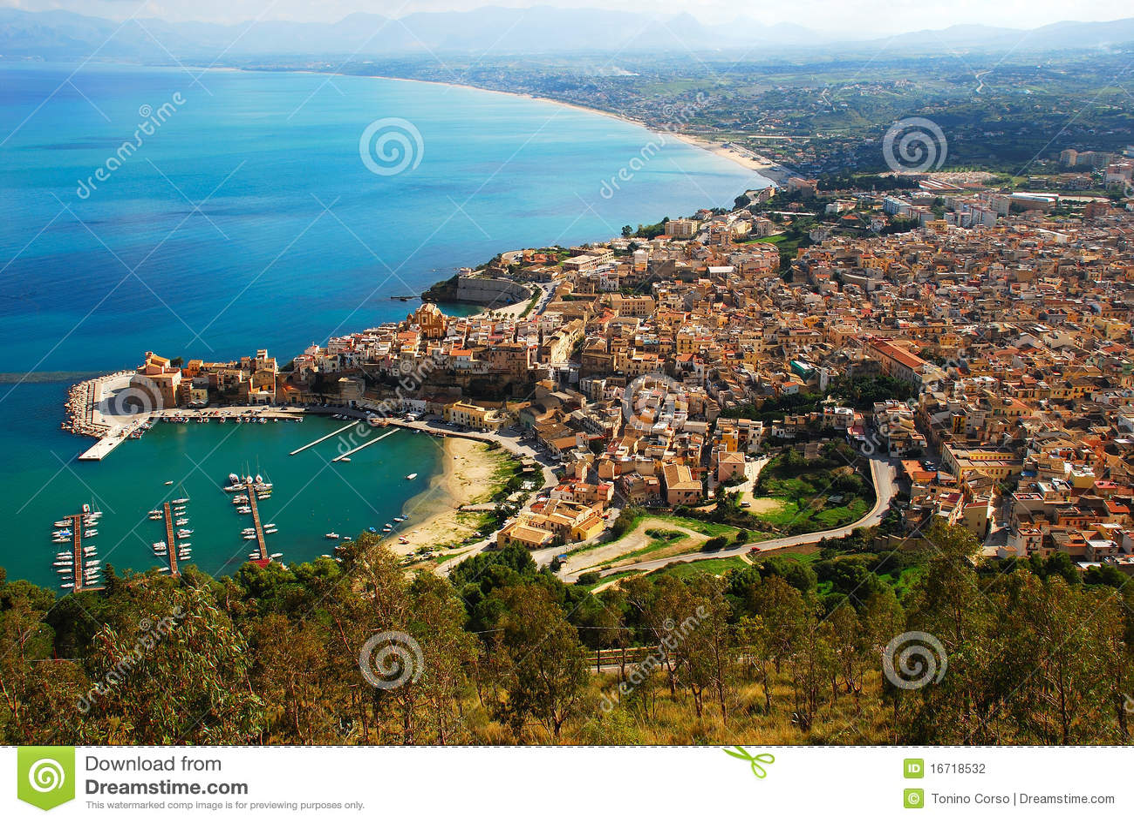 Castellammare del golfo sicily italy stock photo image 48782909 - Castellammare Del Golfo Sicily Stock Photography