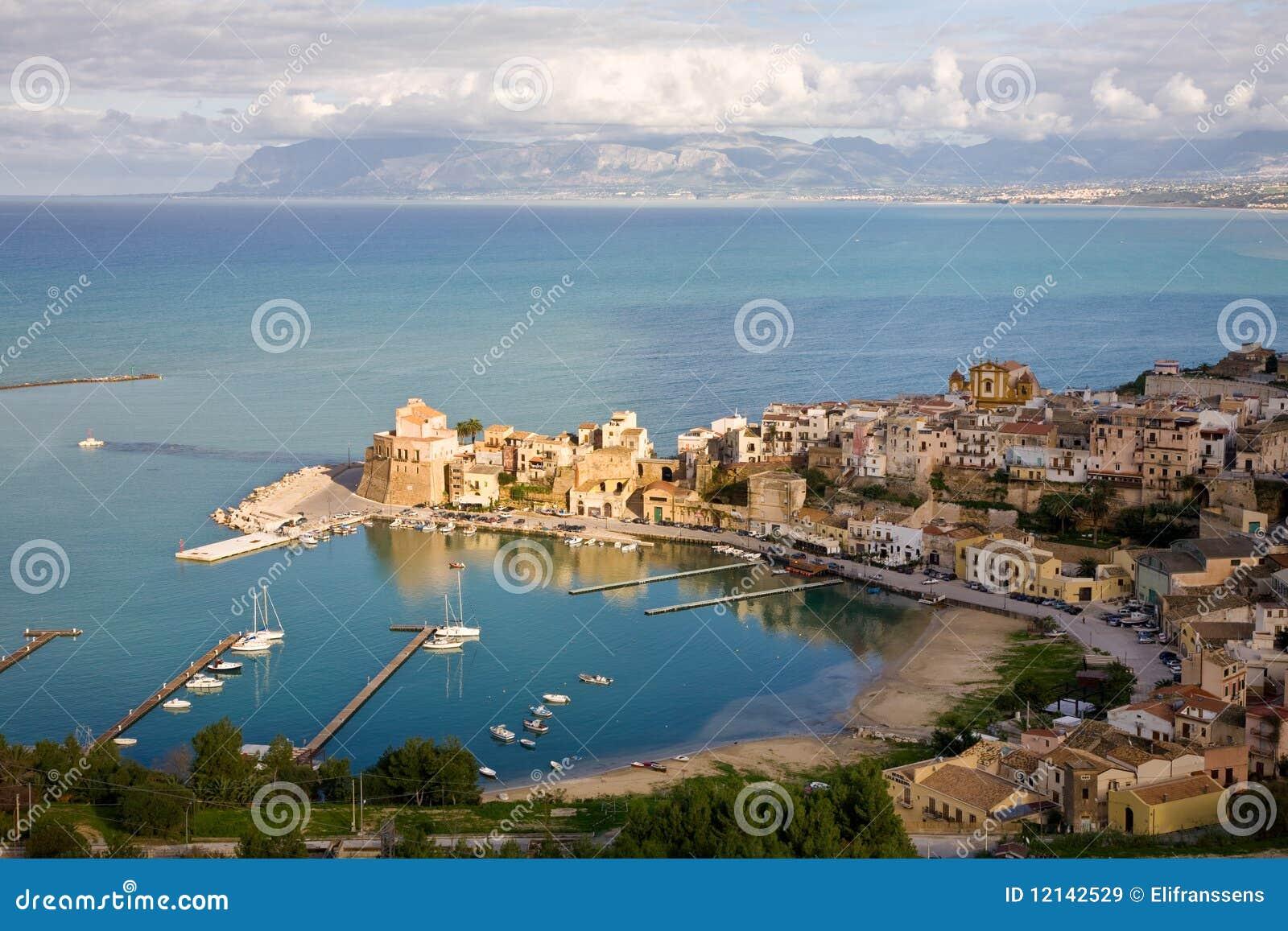 Castellammare del golfo sicily italy stock photo image 48782909 - Castellammare Del Golfo Sicily Italy Royalty Free Stock Images