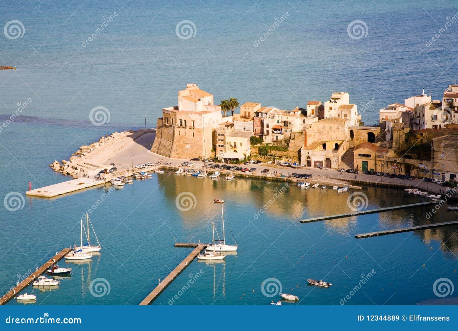 Castellammare del golfo sicily italy stock photo image 48782909 - Castellammare Del Golfo In The