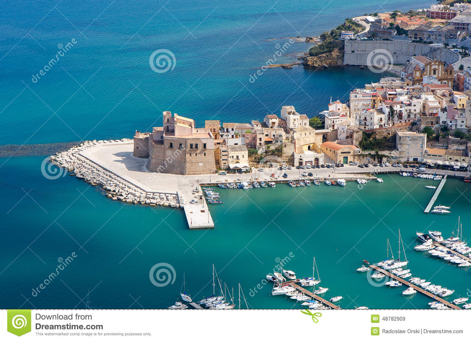Castellammare del Golfo Italy  city photos gallery : Castellammare Del Golfo, Sicily, Italy Stock Photo Image: 48782909