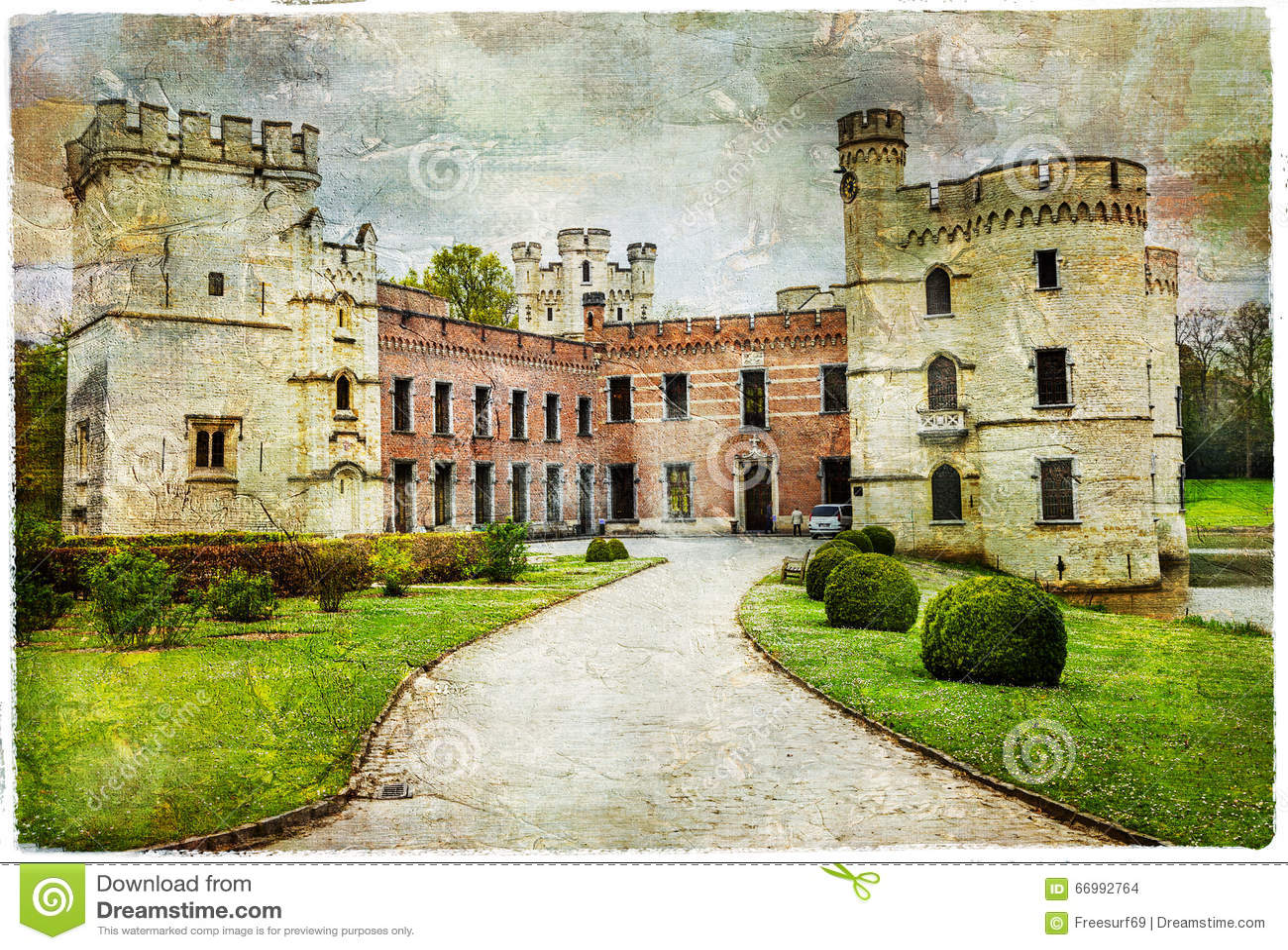 Castelli medievali del belgio bouchot fotografia stock - Finestre castelli medievali ...