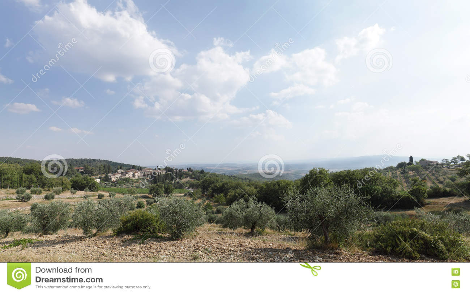 Castellina in Chianti sulla collina, Toscana