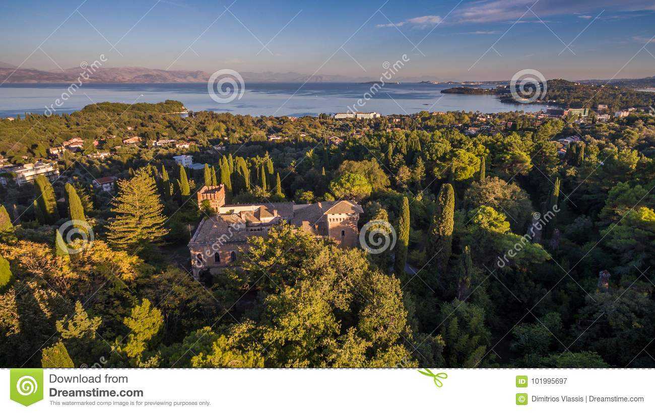 Castello Bibelli at Corfu Greece.18th century elegant villa that now is abandoned.