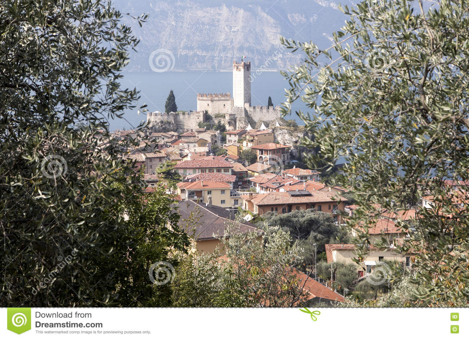 Castello Callgero, Malcesine, Italien