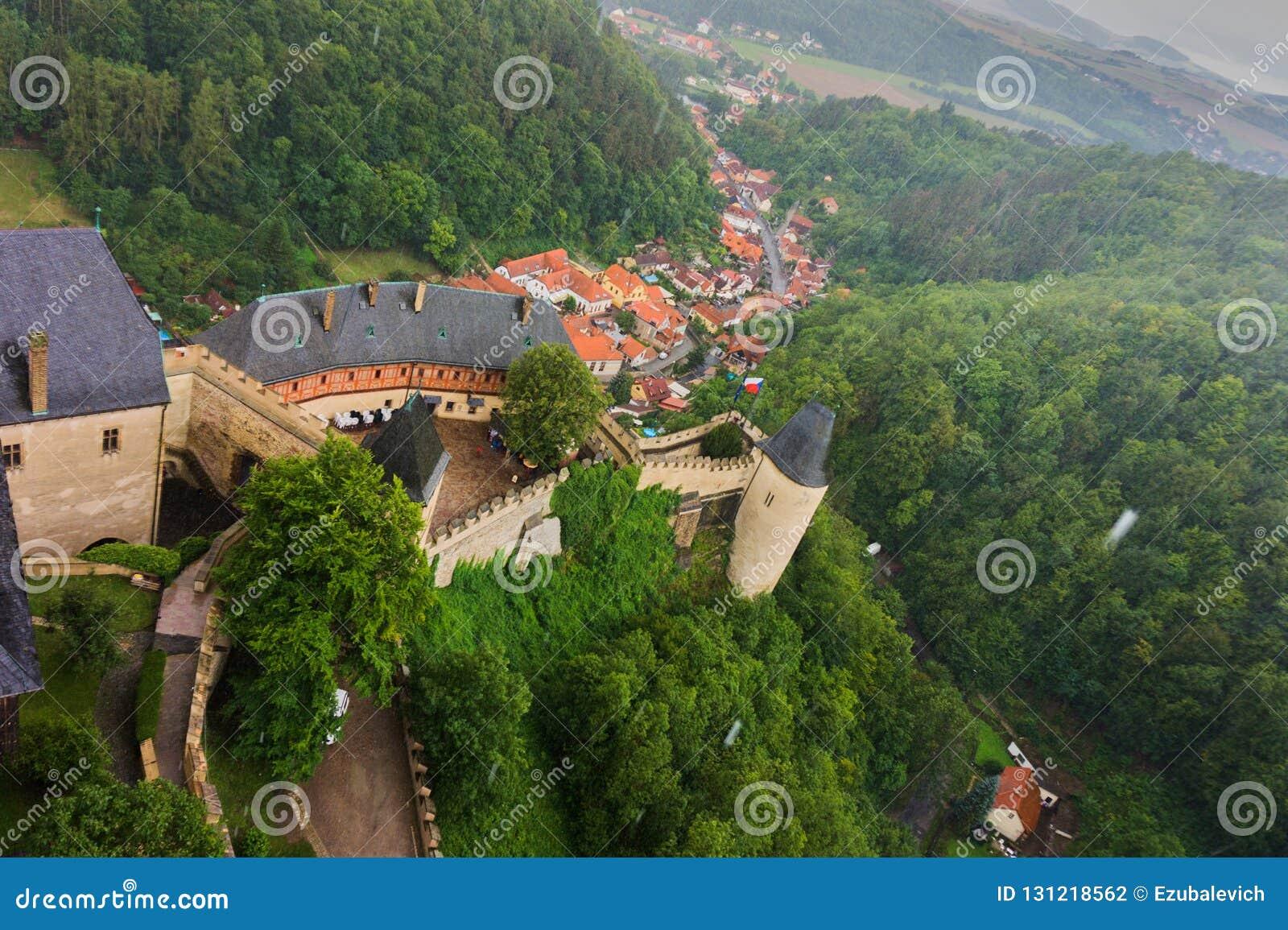 Castello ceco Karlstejn a Praga