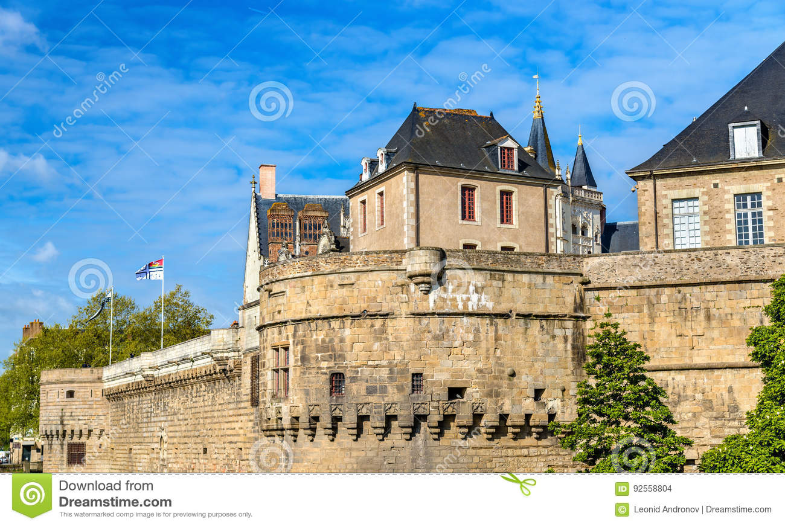 Castello dei duchi di Bretagna a Nantes, Francia