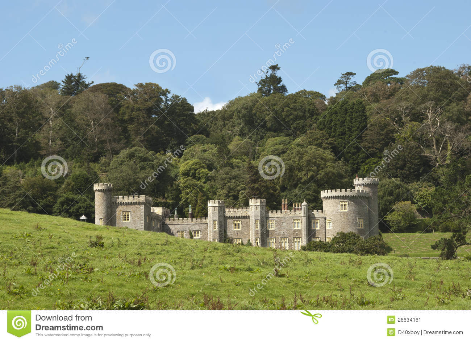 Castello della casa di campagna immagine stock immagine for Design della casa di campagna