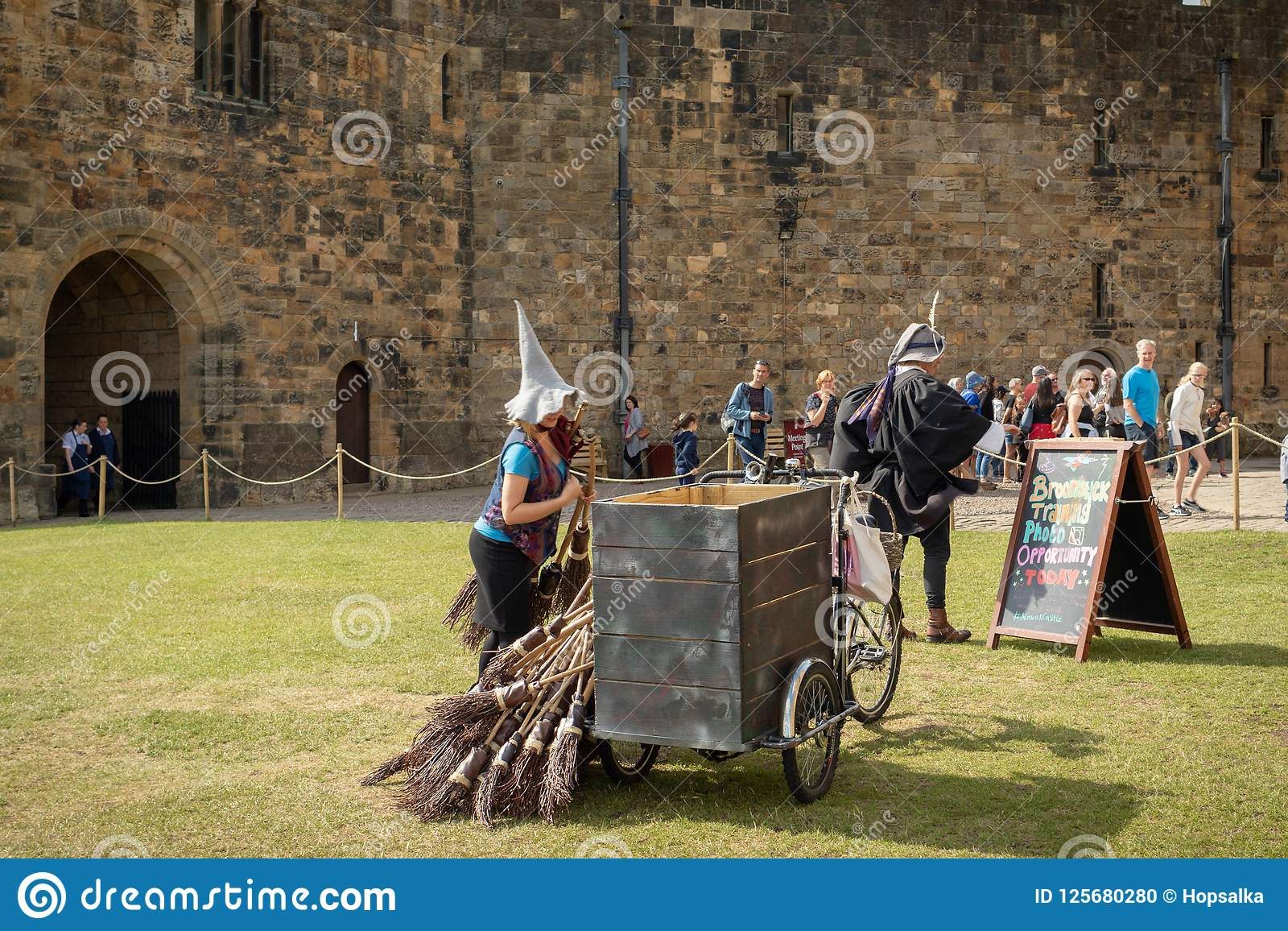 Castello Di Alnwick Addestramento Del Manico Di Scopa Di