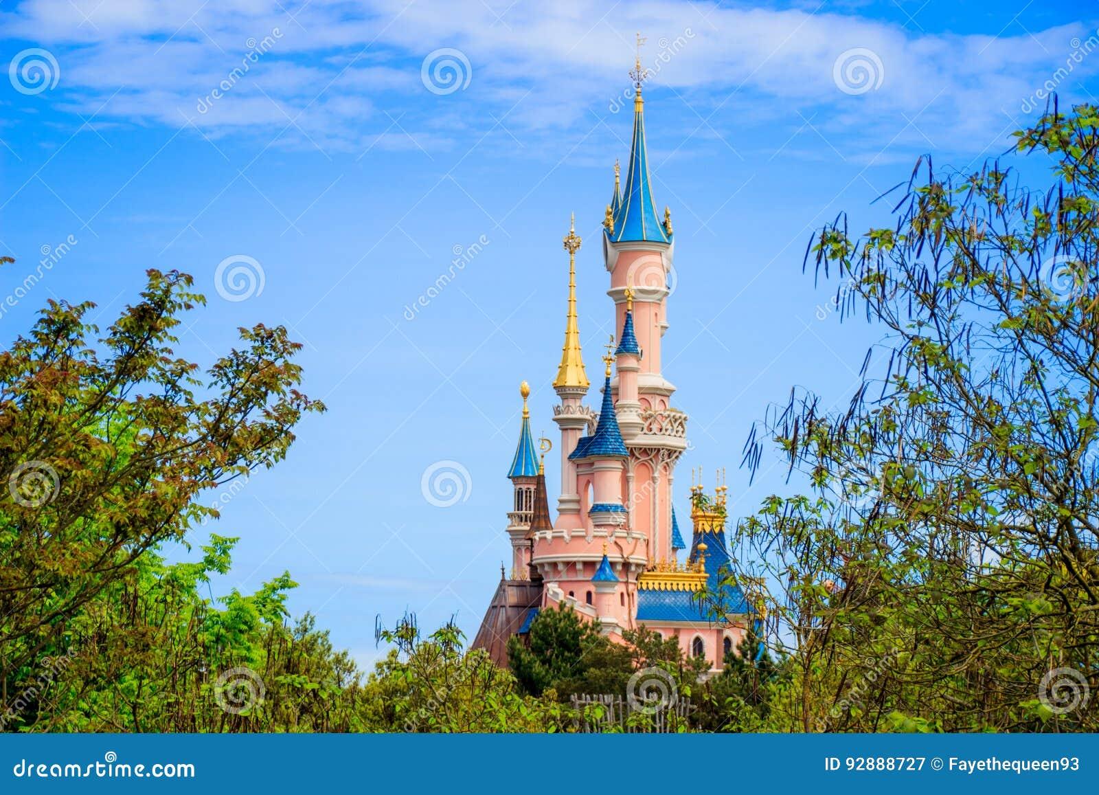 Castello di bella addormentata a Disneyland Parigi, editoriale di Eurodisney