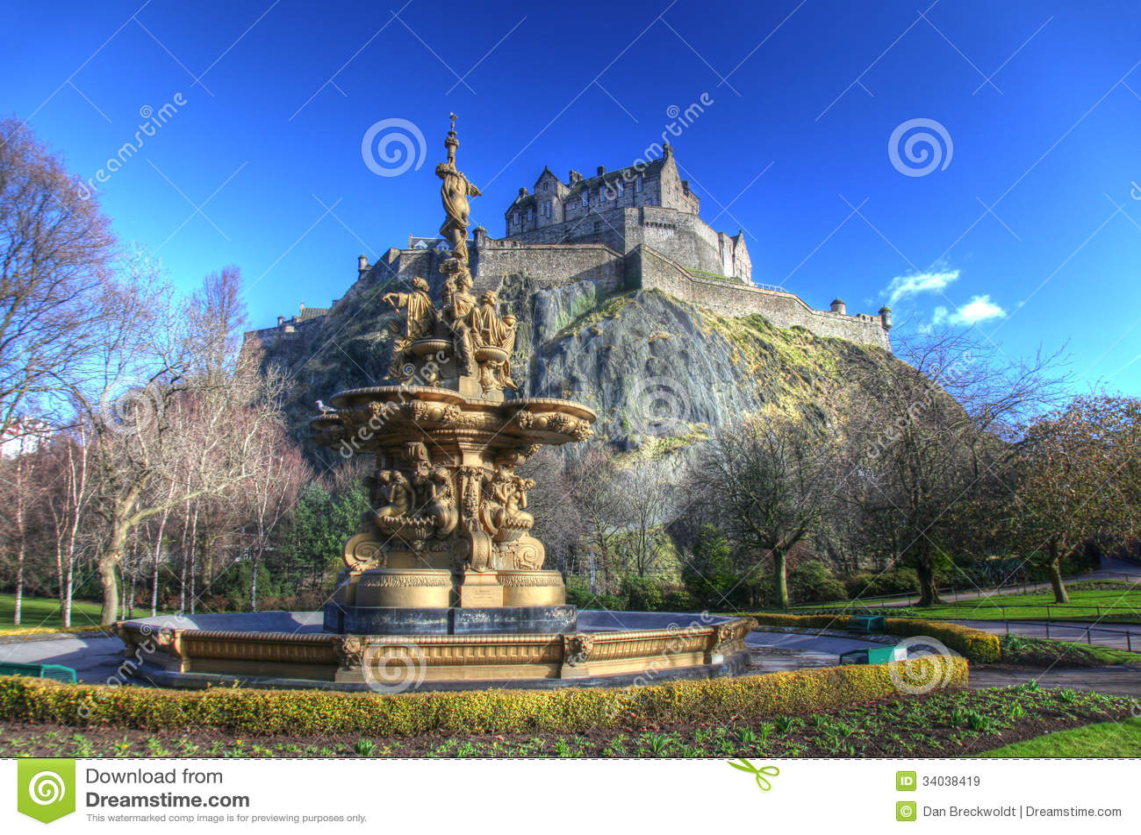Castello di Edimburgo in Scozia