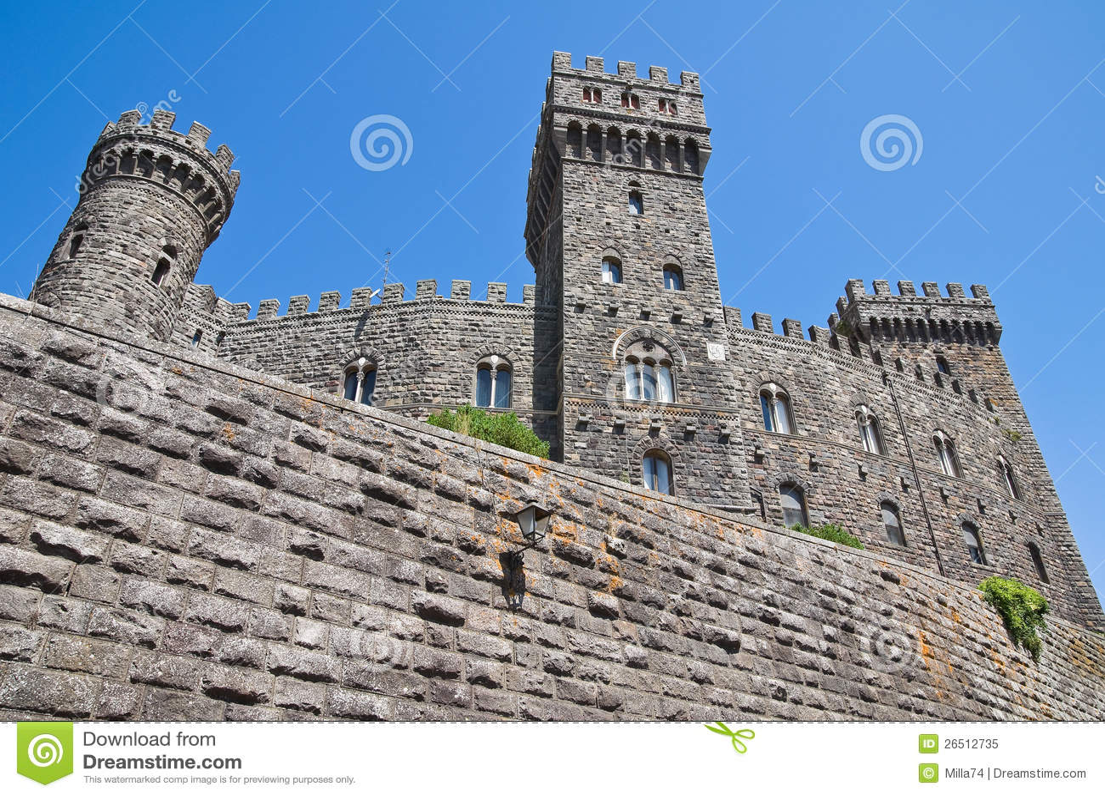Castello di Torre Alfina. Il Lazio. L Italia.