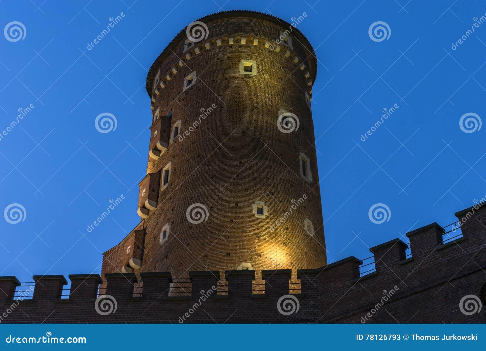Castello di Wawel di notte