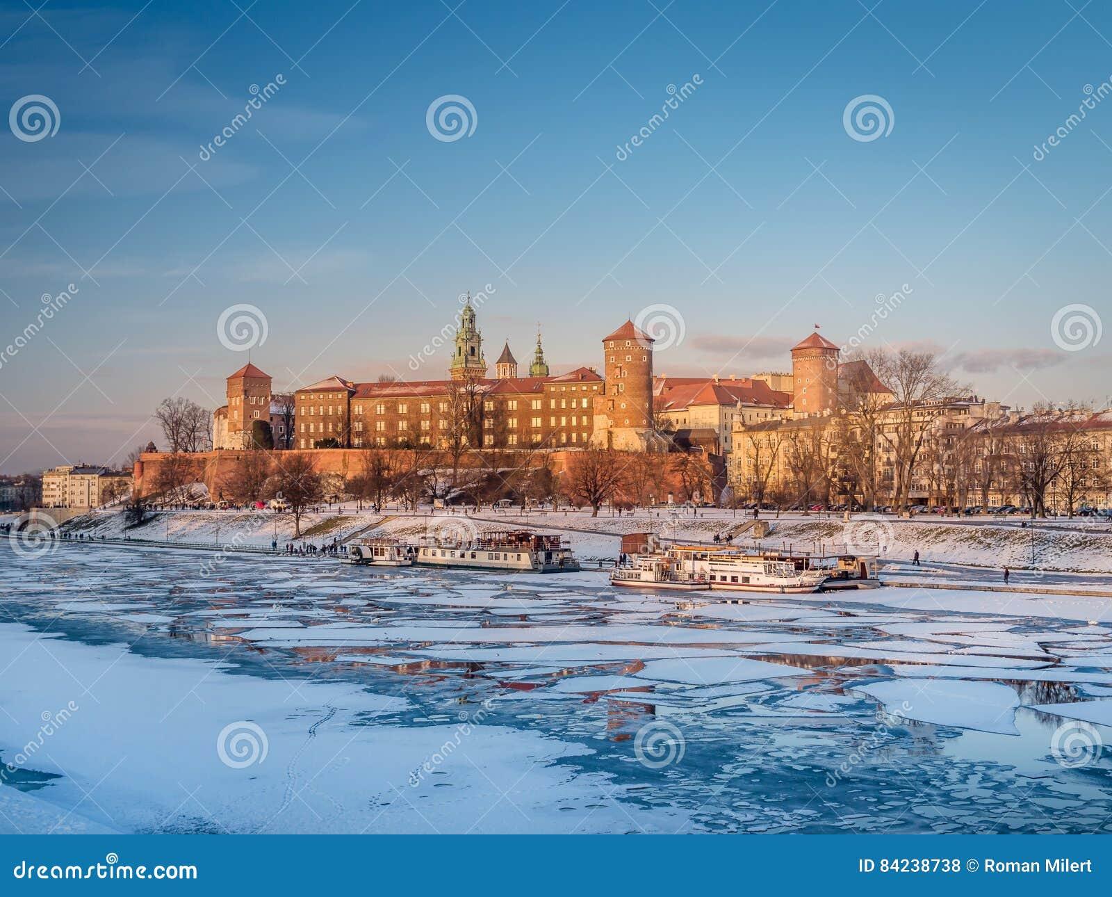 Castello di Wawel nell orario invernale