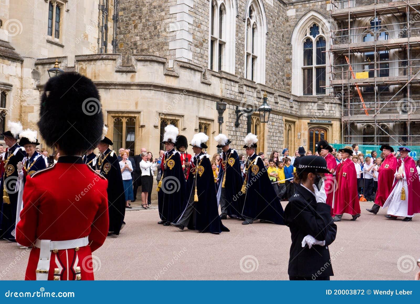 Castello di Windsor di giorno della giarrettiera