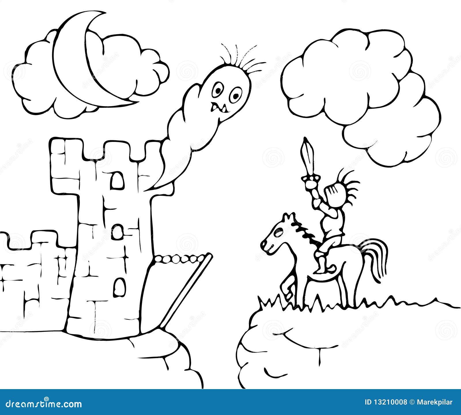 Castello e cavaliere del fantasma