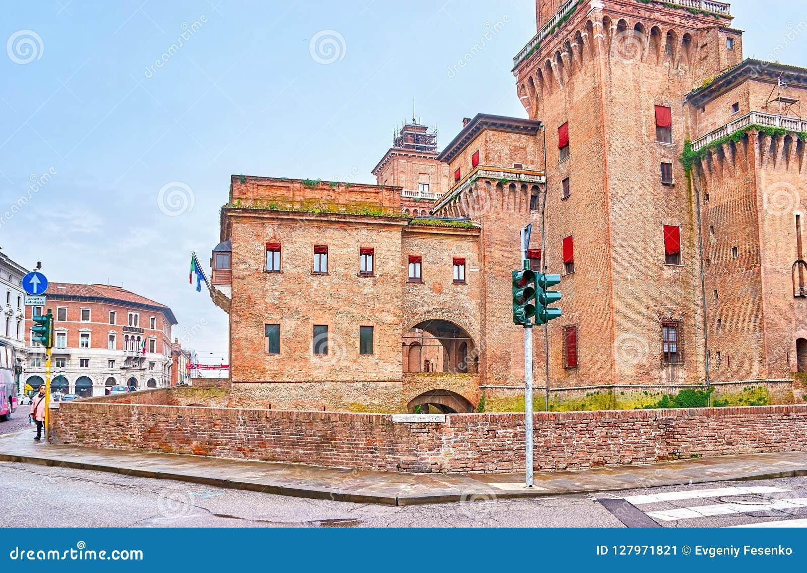 Castello Estense在费拉拉,意大利