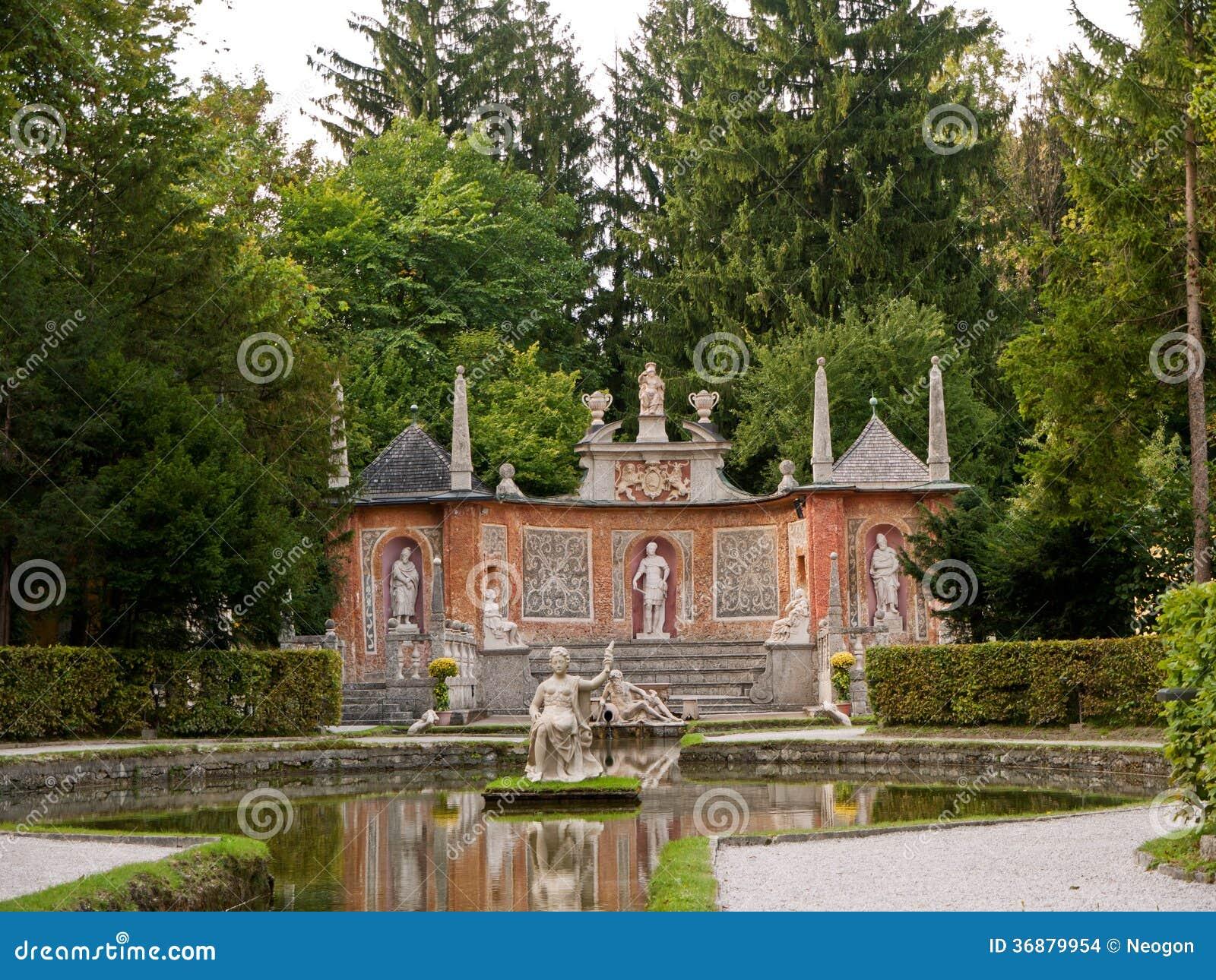 Download Castello Hellbrunn, Salisburgo, Austria Fotografia Stock - Immagine di chateau, ornamentation: 36879954