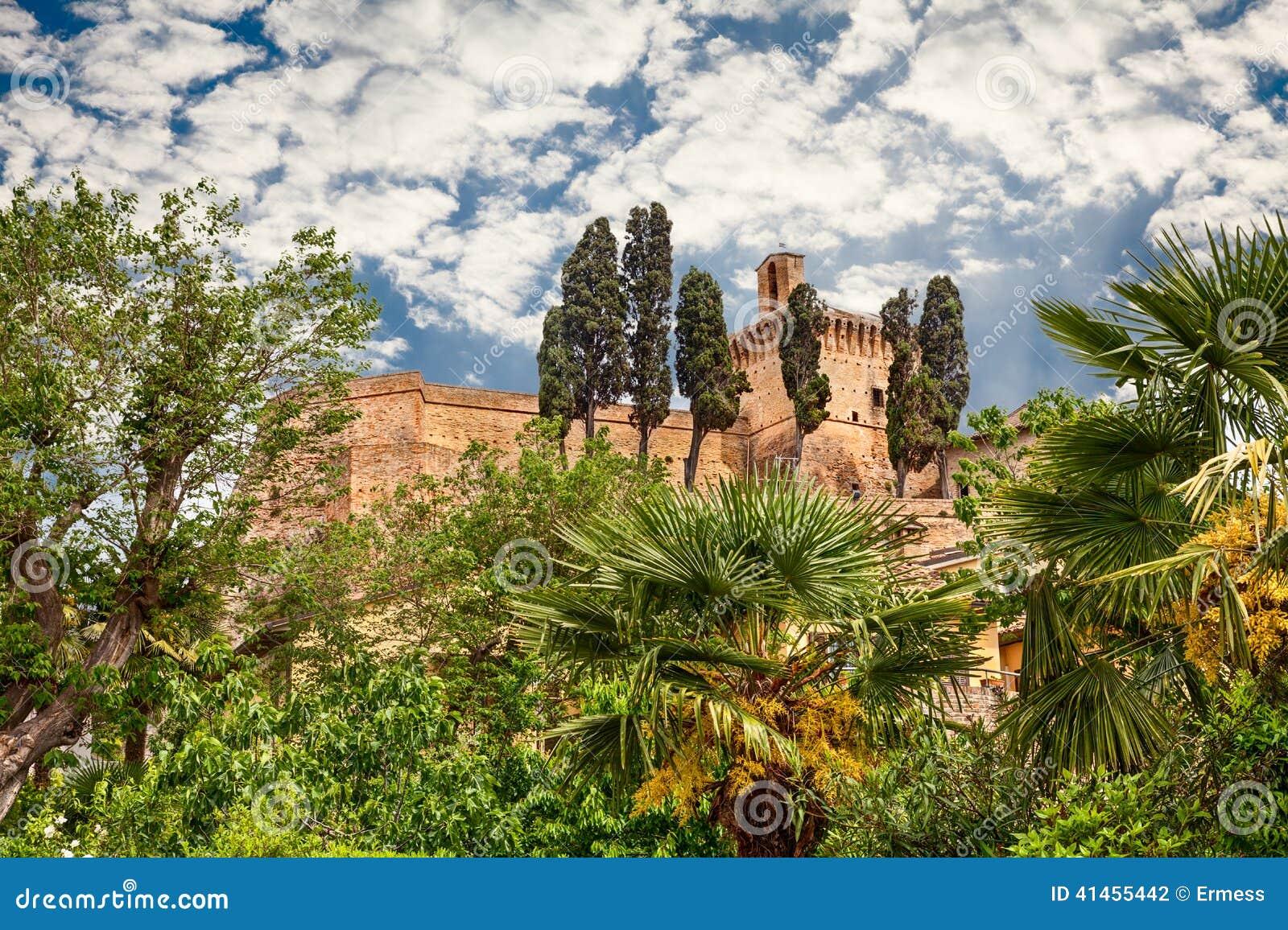 Castello Italiano Antico In Meldola, Emilia Romagna, Italia Fotografia Stock - Immagine: 41455442