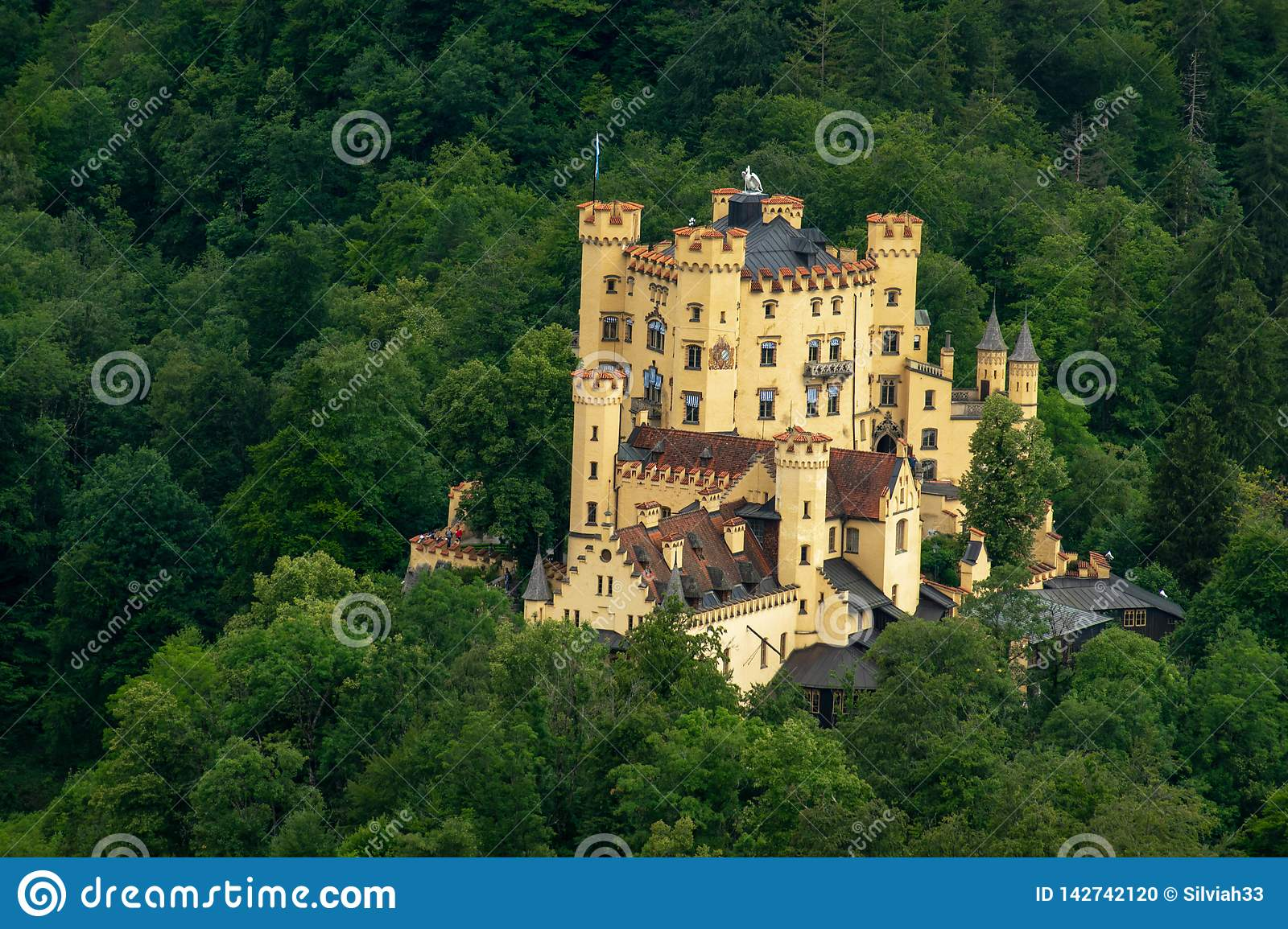 Castello in mezzo ad una foresta in Germania