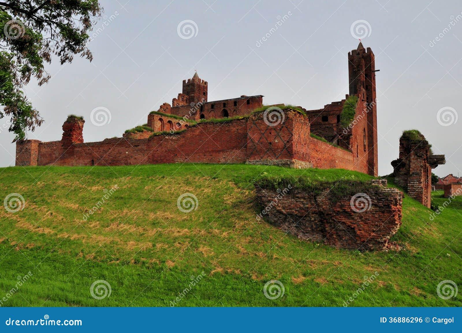 Download Castello In Radzyn Chelminski, Polonia Fotografia Stock - Immagine di attrazione, medioevale: 36886296
